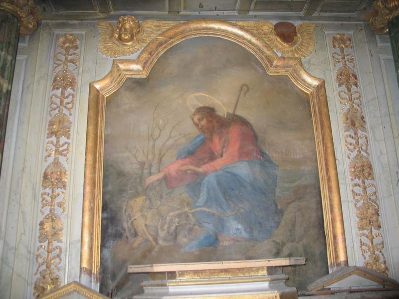 Tableau du retable du maître-autel: le bon pasteur (le), vue générale