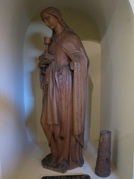 Statuette d'applique : sainte Barbe, vue générale
