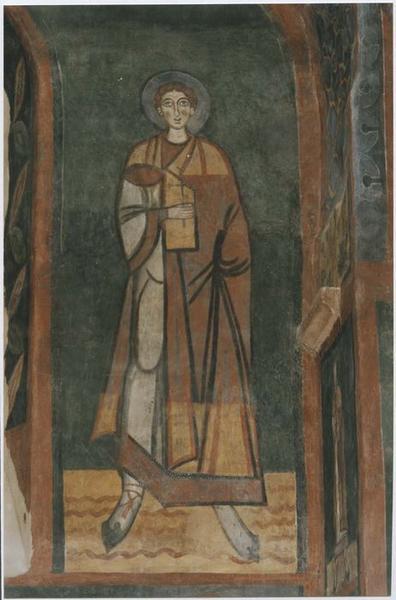 peintures monumentales : saint non identifié, vue générale