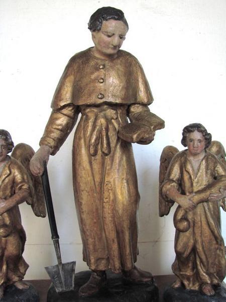 Bâton de procession de saint Fiacre, vue partielle