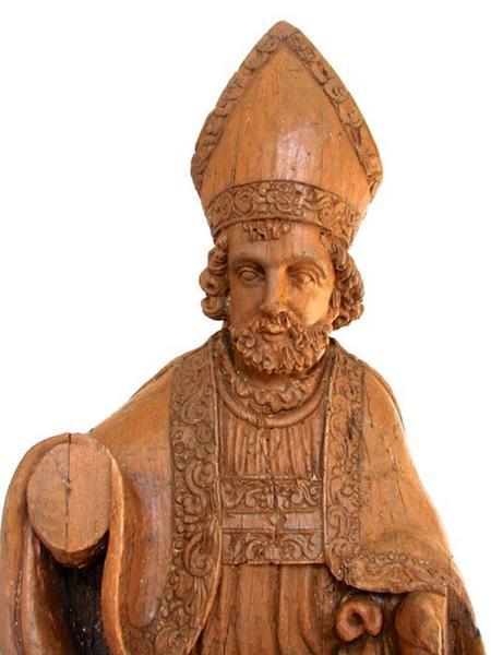 Statue: saint Eloi, vue partielle