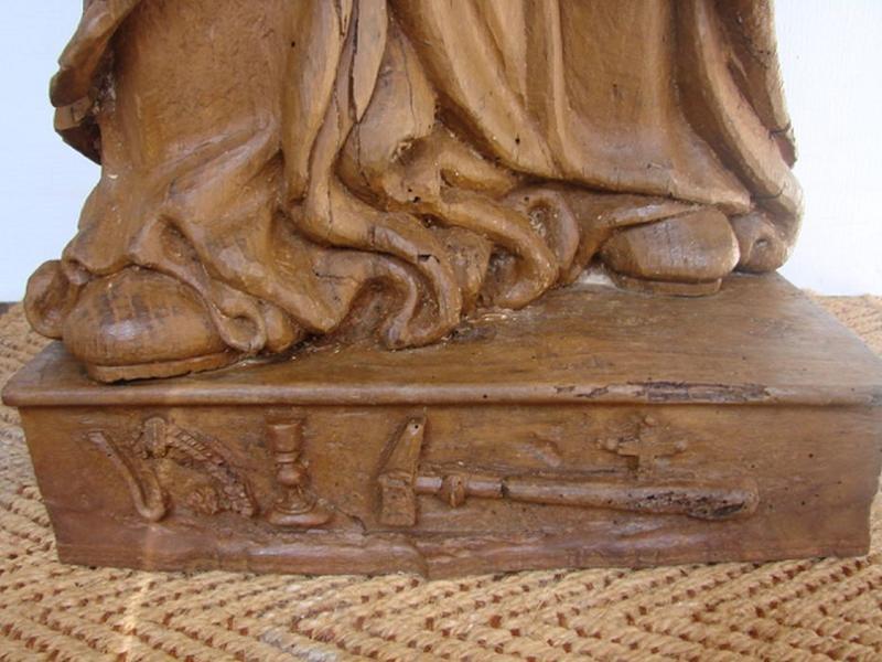 Statue: saint Eloi, détail