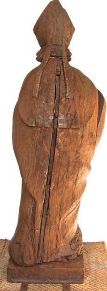 Statue: saint Eloi, vue générale du revers