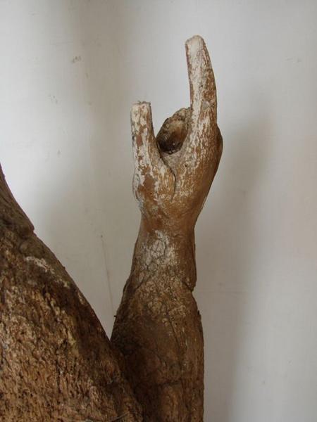 Statue : Saint Evêque bénissant, détail