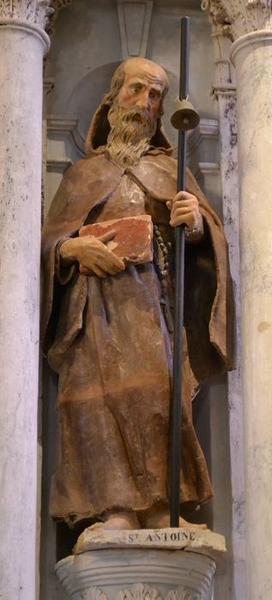 Statue : saint Antoine ermite, vue générale