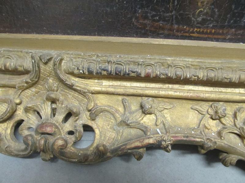 Tableau : Les disciples d'Emmaüs, détail du cadre