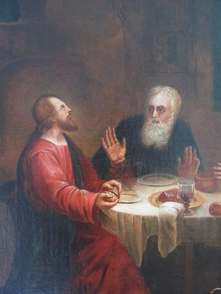 Tableau : Les disciples d'Emmaüs, vue partielle