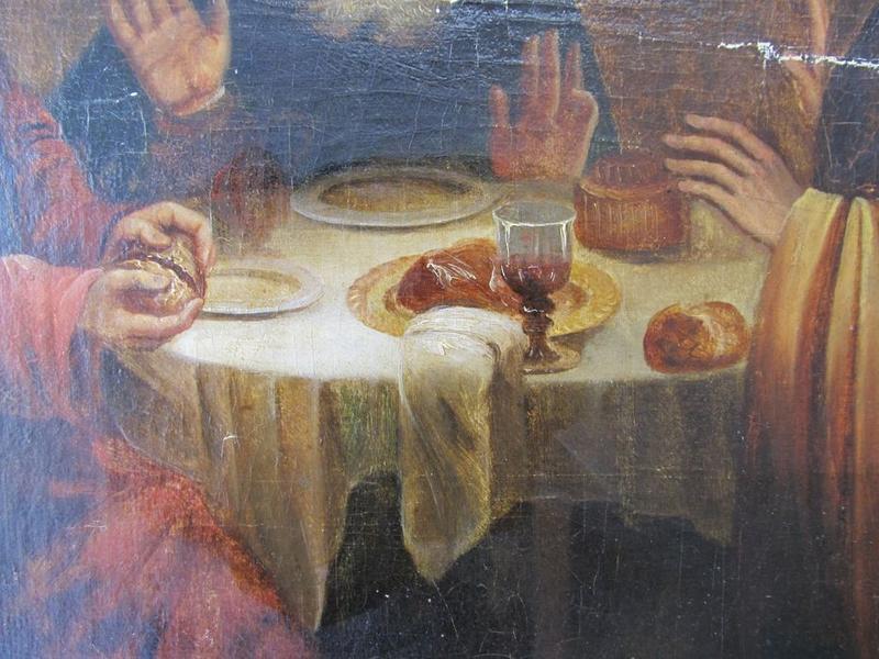 Tableau : Les disciples d'Emmaüs, détail