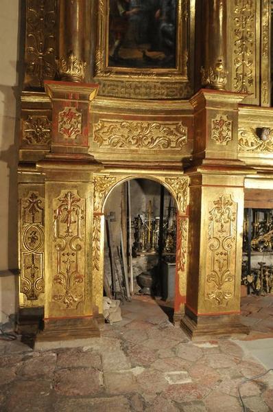 Retable de saint Benoît, vue partielle
