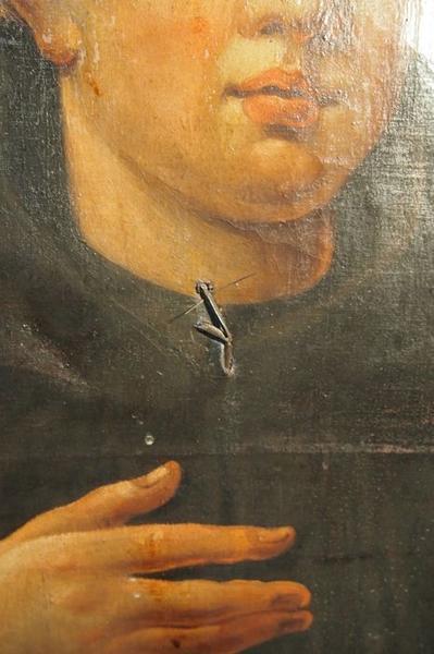 Retable de saint Benoît, détail d'un tableau: saint Benoît