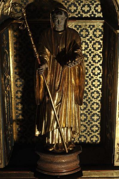 Retable de saint Benoît, statue de saint Benoît, vue générale