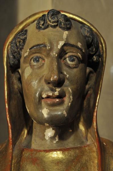 Retable de saint Benoît, détail de la statue de saint Benoît