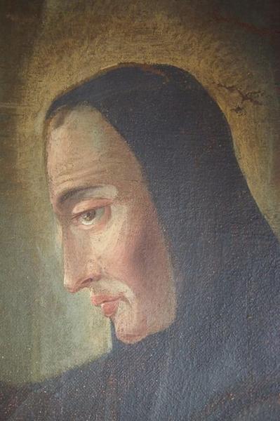 Retable de saint Benoît, détail d'un tableau: épisode de la vie de saint Benoît