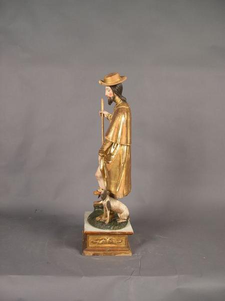 Statue: saint Roch, vue générale, profil gauche
