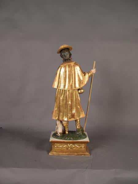 Statue: saint Roch, vue générale de dos