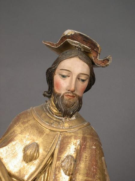 Statue: saint Roch, vue partielle