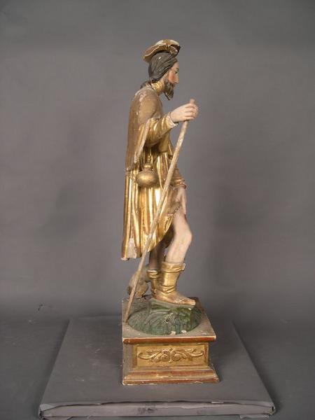 Statue: saint Roch, vue générale, profil droit