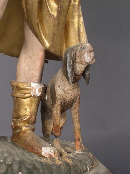 Statue: saint Roch, détail
