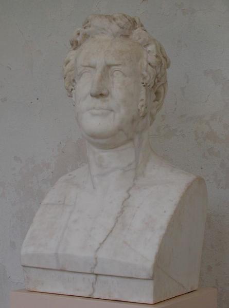 Statue (buste): Augustin Pyramus de Candolle, vue générale