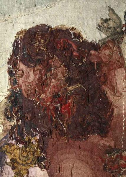 Pièce murale : Samson au banquet des philistins, détail du revers