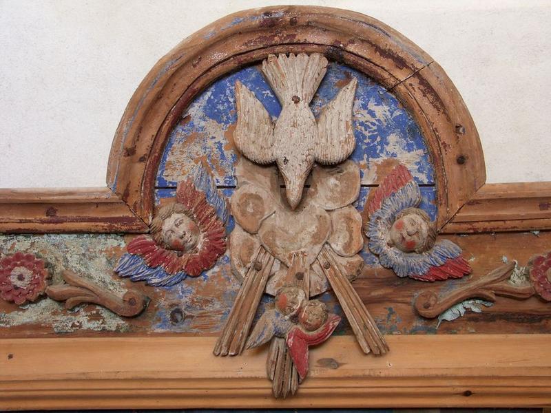 Tableau : la Décollation de saint Jean-Baptiste, détail du cadre