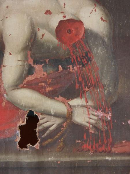 Tableau : la Décollation de saint Jean-Baptiste, détail
