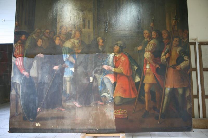 Tableau: entrevue de saint François de Paule et de Louis XI, vue générale