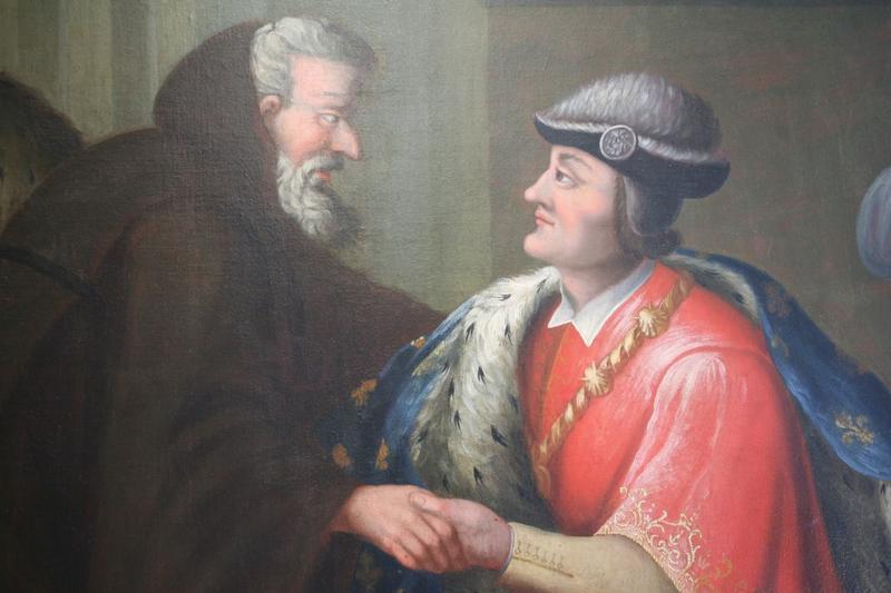 Tableau: entrevue de saint François de Paule et de Louis XI, détail