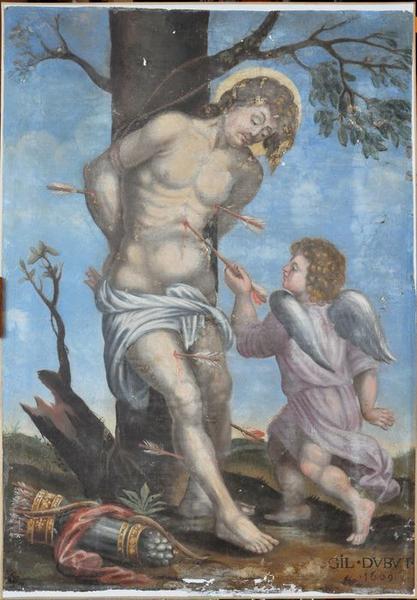 retable, tableau : saint Sébastien