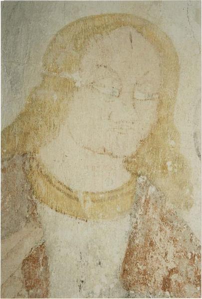 peintures monumentales, détail de la tête de saint Jean