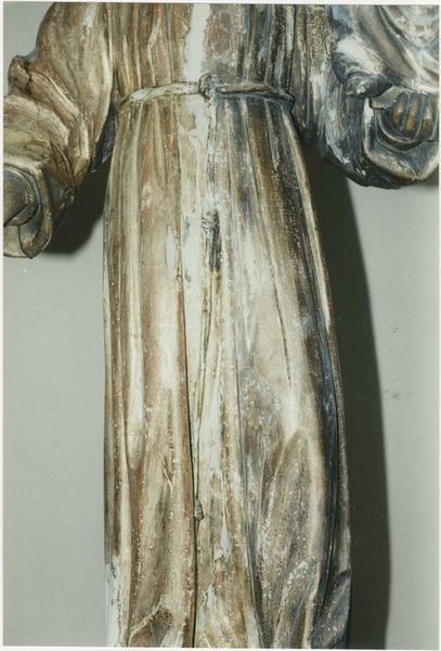 Statue : saint Antoine de Padoue portant l'Enfant Jésus