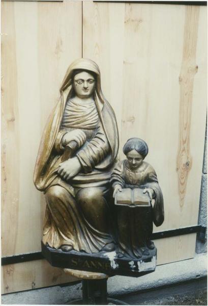 groupe sculpté : Education de la Vierge, vue générale