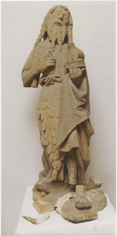 statue (demi-nature) : saint Jean-Baptiste, vue générale