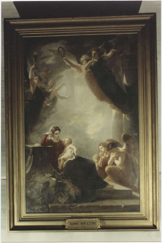 Tableau : le sommeil de l'enfant Jésus, vue générale