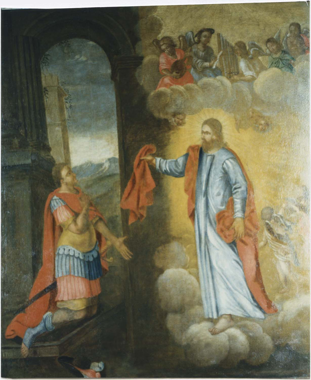 Tableau et cadre : la Vision de saint Martin