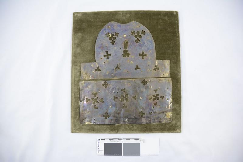 Plaque décorative (fragment de la statue de sainte Foy), vue générale