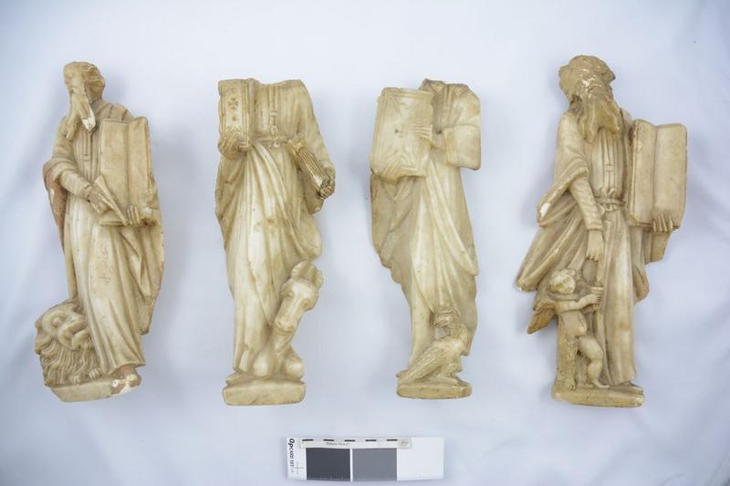 Statues (statuettes): évangélistes, vue générale