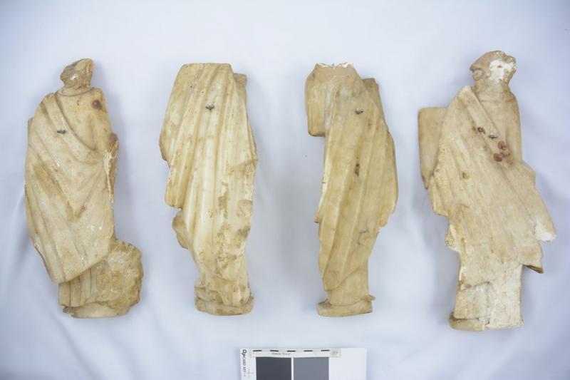 Statues (statuettes): évangélistes, vue générale du revers
