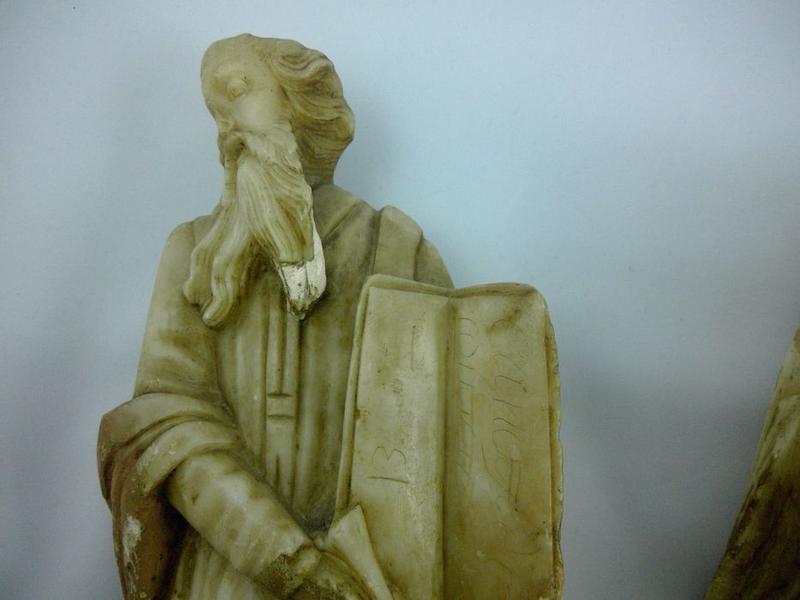 Statue (statuette): saint Marc, vue partielle