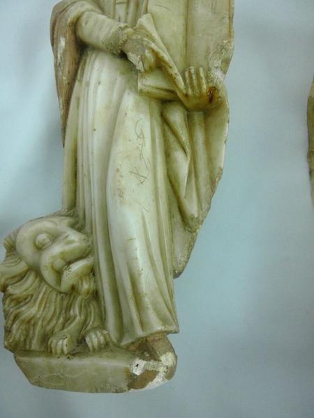 Statue (statuette): saint Marc, détail