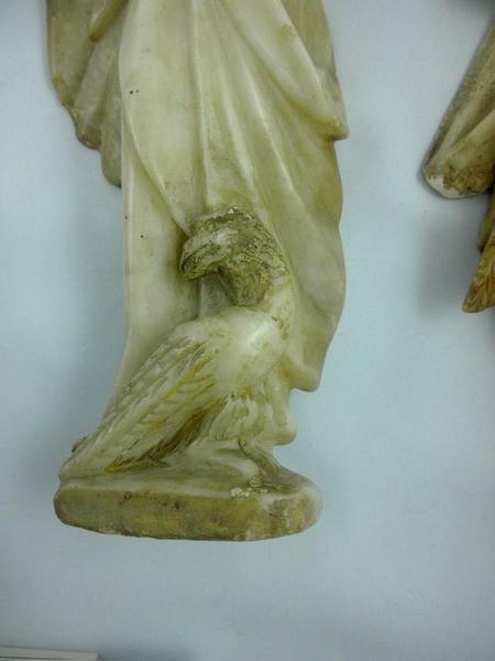 Statue (statuette): saint Jean, détail