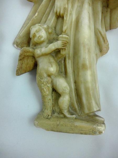 Statue (statuette): saint Mathieu, détail
