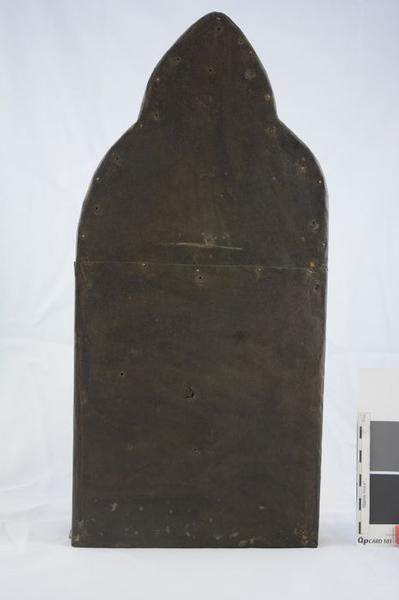 Plaque décorative (triptyque), vue générale du revers