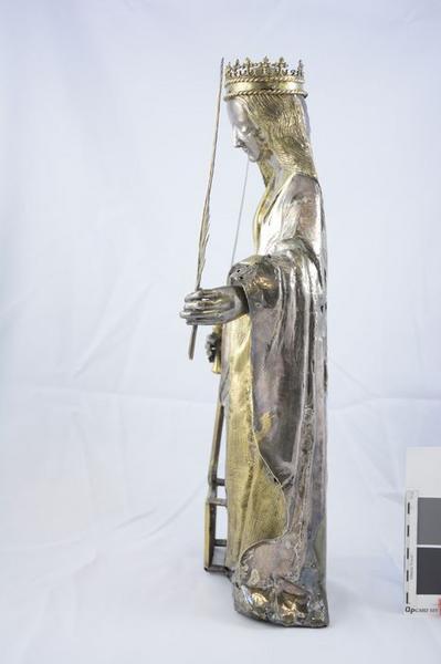 Statue : sainte Foy, profil gauche, vue générale