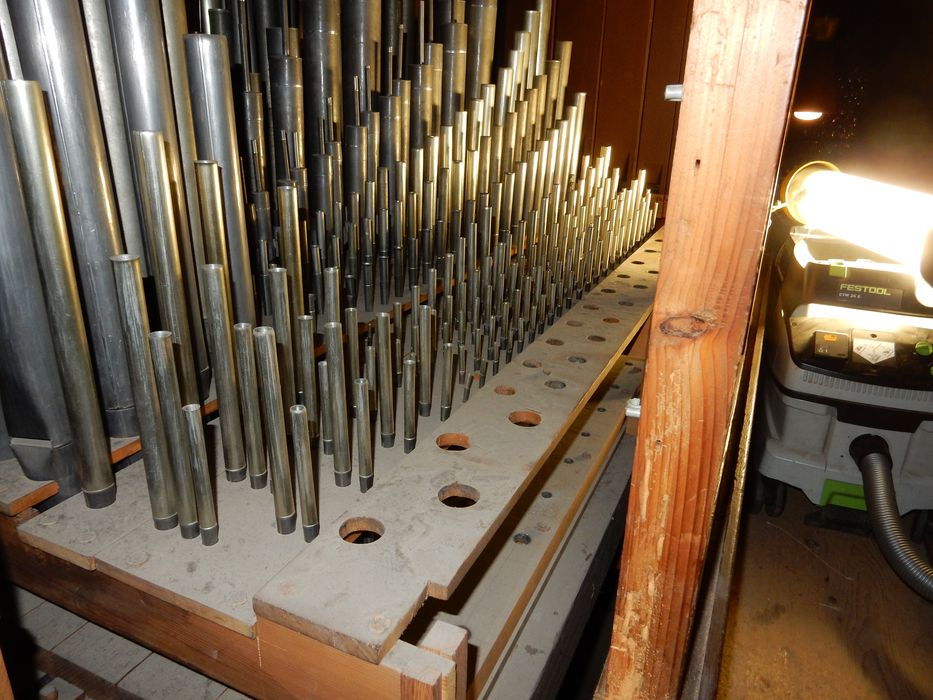 orgue de tribune: partie instrumentale, détail