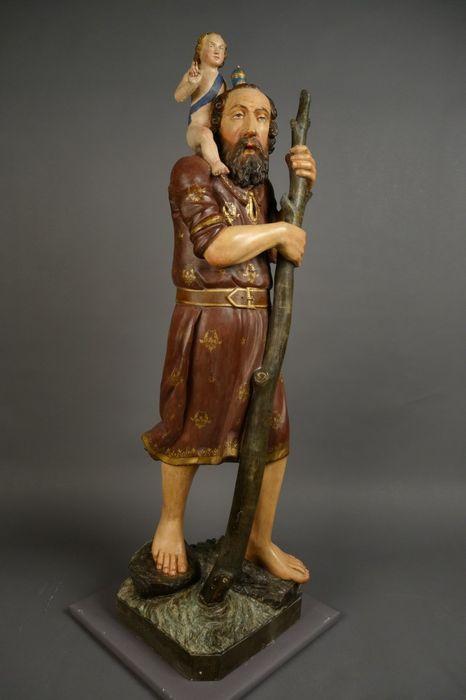 statue : saint Christophe, vue générale
