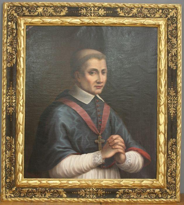 Tableau, cadre : portrait de François d'estaing
