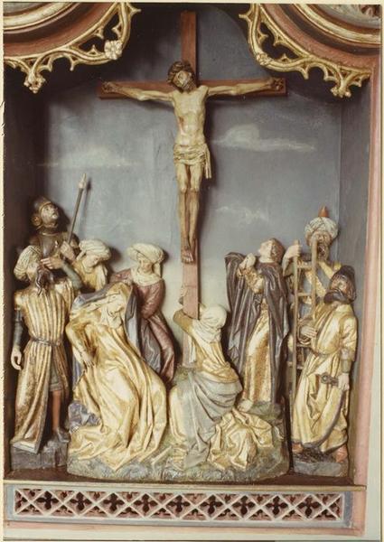 Tableau (triptyque), bas-relief: Crucifixion (la), vue générale