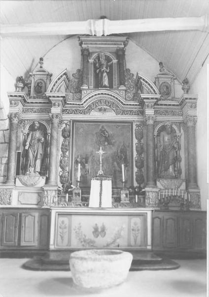 Retable, 2 statues : saint Joachim, saint Joseph