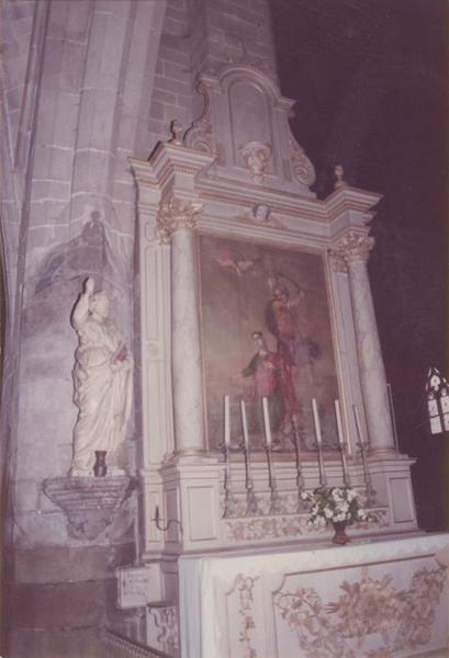 Autel, retable, tableau de sainte Barbe : Martyre de sainte Barbe (le)
